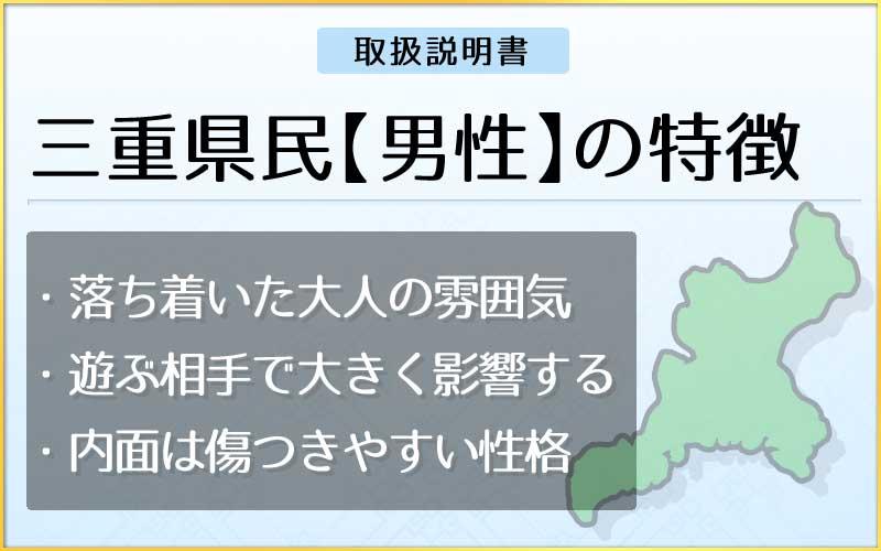 県民性占い-三重県民【男性】のメインページ